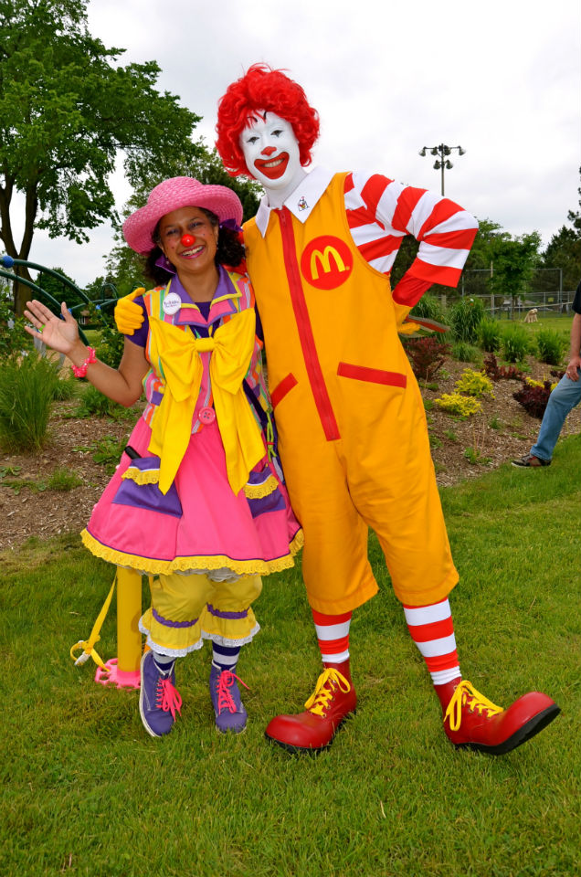 With my boyfriend, Ronald!